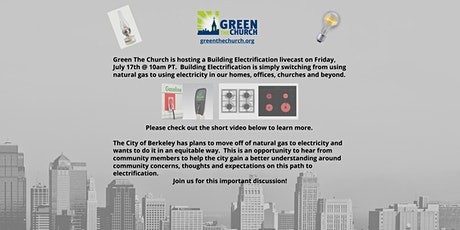 Green The Church is hosting a Building Electrification livecast tickets