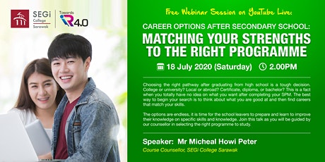 Career Options:Matching Your Strengths To The Right Programme tickets