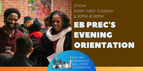EB PREC Evening Orientations (First Tuesdays) tickets