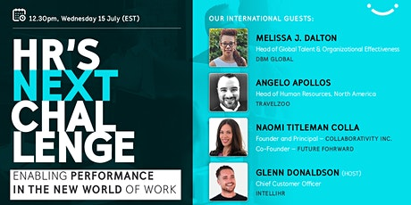 HR's next Challenge - Enabling Performance in the new world of work tickets