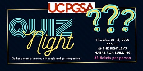 PGSA Quiz Night tickets