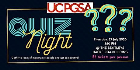 PGSA Quiz Night tickets