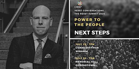 Power to the People | Next Steps with Max Rashbrooke |  Wānaka tickets