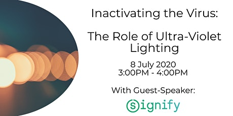 Webinar: Inactivating the Virus – the Role of Ultra-Violet Lighting tickets