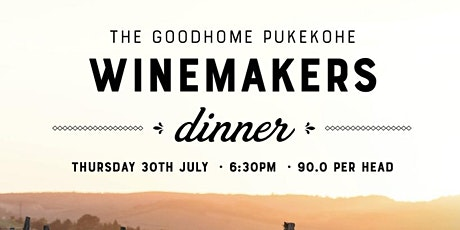 Wine Makers Dinner tickets
