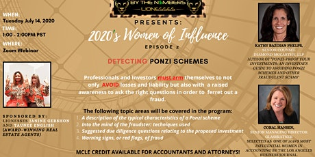 Professionals & Investors - Learn how to DETECT PONZI SCHEMES! tickets