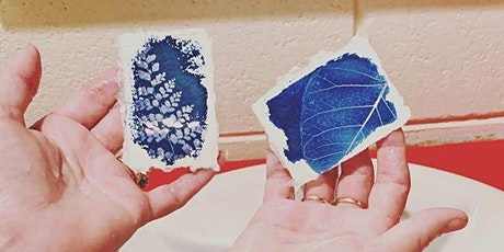 Capturing sunlight - intro to cyanotype printing tickets