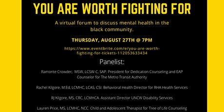 """""""You Are Worth Fighting For"""" tickets"""