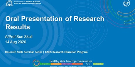 Research Skills Seminar: Oral Presentation of Research Results  - 14 Aug tickets