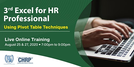 Excel for HR Professional: Using Pivot Table Techniques tickets