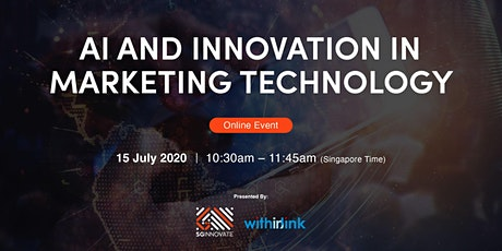 AI and Innovation in Marketing Technology [Online Event] tickets