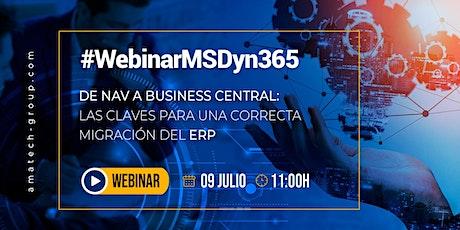#WebinarMSDyn365 De NAV a 365 Business Central tickets