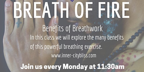 Benefits of Breathwork (Breath Of Fire) - IG Live tickets