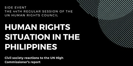 The Human Rights Situation in the Philippines: Civil society reactions tickets