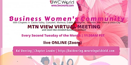 BWC Mtn View Chapter Virtual Meeting tickets