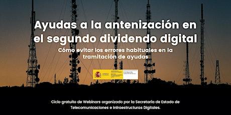 Ayudas a la antenización en el segundo dividendo digital entradas