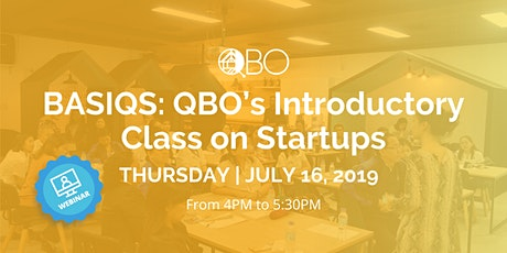 Copy of BASIQS: QBO's Introductory Class on Pitching | Webinar tickets