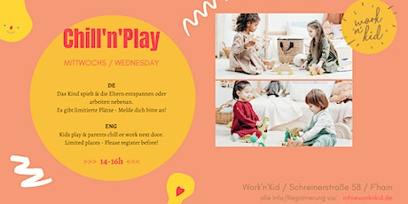 Chill'n'Play - International Playgroup with Nanny + Coworking tickets