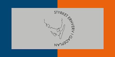 Åbnings arrangement, Styrket Erhverv i Gadeplan. tickets