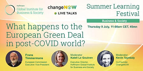 Conversation with Frans Timmermans by INSEAD x ChangeNOW tickets