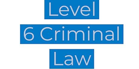 CILEx Level 6 Criminal Law tickets