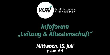 """Forum """"Leitung & Ältestenschaft"""" Tickets"""