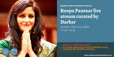 Roopa Panesar live stream curated by Darbar tickets