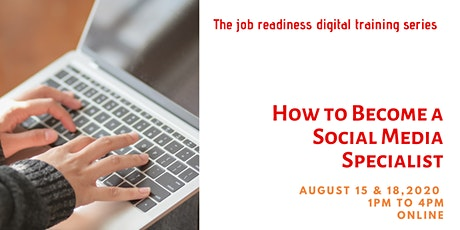 How To Become a Social Media Specialist tickets