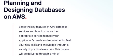 Planning and Designing Databases on AWS tickets