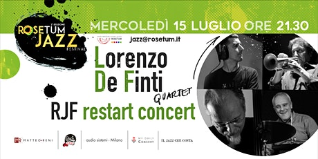 RJF- Restart Concert: Lorenzo De Finti QRT biglietti