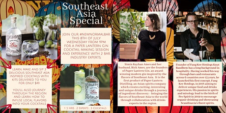 Learn, Make and Sip 3 Southeast Asia Inspired Cocktails tickets