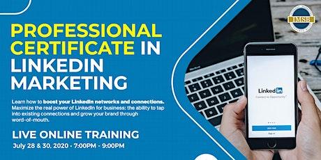 Professional Certificate in LinkedIn Marketing tickets