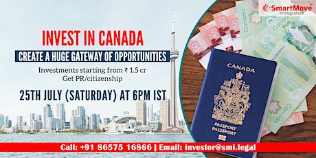 FREE Webinar - Invest in Canada & create a huge gateway of opportunities! tickets