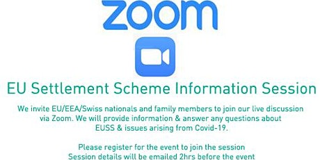 EU Settlement Scheme Information Session tickets
