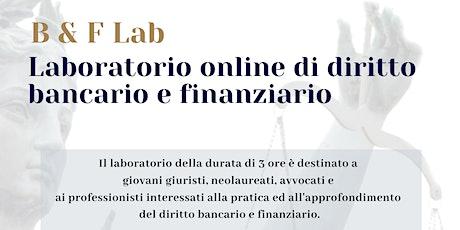 Laboratorio online di diritto bancario e finanziario biglietti