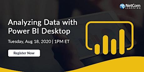 Webinar - Analyzing Data with Power BI Desktop tickets