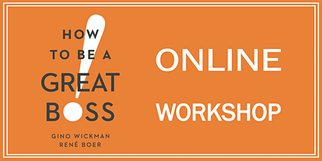 """How to Be a Great Boss"" Online Workshop 10/20/2020 tickets"