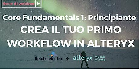 Crea il tuo primo Workflow con Alteryx biglietti