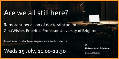 Are we all still here? Remote supervision of doctoral students tickets