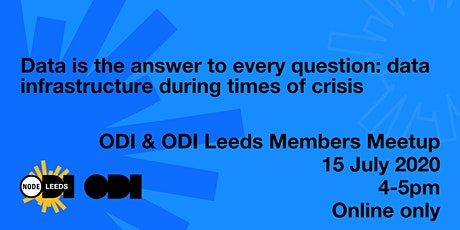 ODI Members Meetup Online - Data is the Answer to Every Question tickets