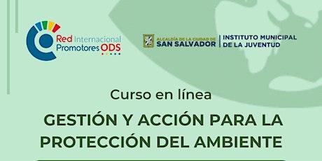 Curso en línea gestión y acción para  la protección del ambiente entradas