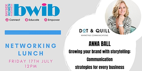 BWIB Networking Lunch - Growing your Brand with Storytelling tickets