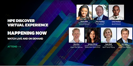 July 8 2020 | HPE Discover Virtual Experience |Free Event tickets