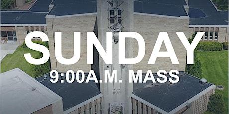 July 26, 2020 - 9:00 a.m. Mass tickets