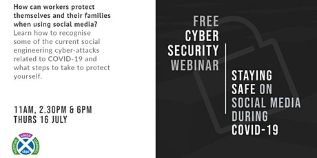 6pm Staying safe on Social Media during COVID-19 tickets