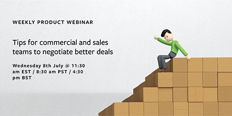 WEBINAR Tips for commercial and sales teams to negotiate better deals tickets