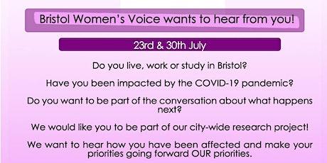 Bristol Women's Voice COVID-19 Focus Group tickets