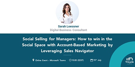 Online Webinar Social Selling for Managers tickets