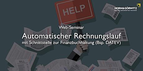 Automatischer Rechnungslauf – Horn & Görwitz Web Seminar Tickets