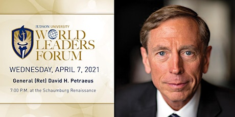 2021 World Leaders Forum presents General Petraeus tickets